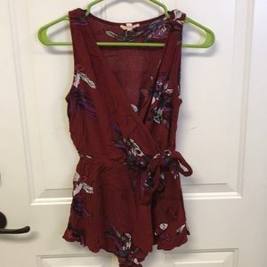 Boutique Romper My Kim, Entro Red and Floral S